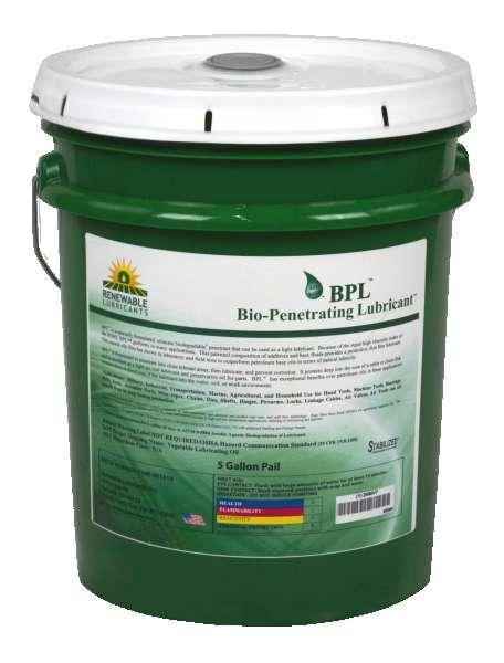 80004 Bio Penetrating Lubricant BPL 5 Gal Pail