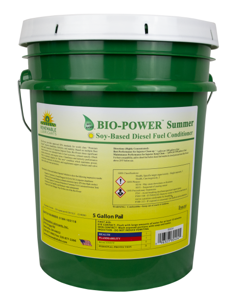 80404 Bio Power Summer Diesel Fuel Conditioner 5 Gal Pail