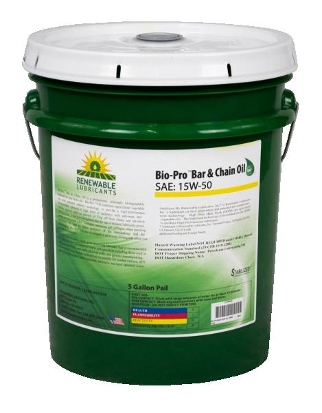 80614 Bio Pro Bar Chain BBC Oil SAE 15 W50 5 Gal Pail