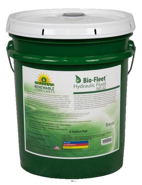 80814 Bio Fleet Hydraulic Fluid ISO 22 5 Gal Pail