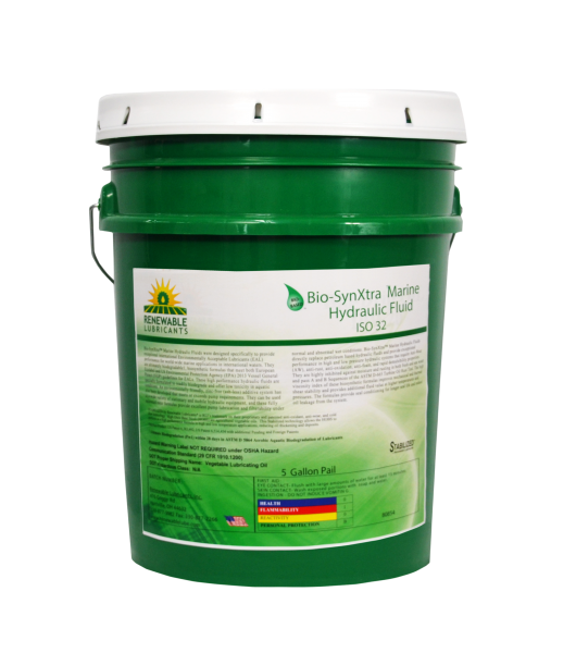 80854 Bio Syn Xtra Marine Hydraulic Fluid HEES ISO 32 5 Gallon Pail