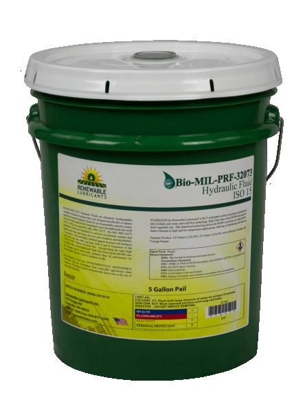 81144 Bio MIL PRF 32073 Hydraulic Fluid ISO 15 5 Gal