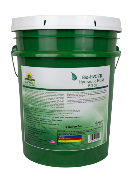 81514 Bio HVO Fire Resistant Hydraulic Fluid ISO 68 5 Gal Pail