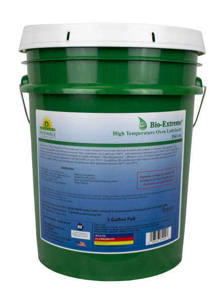 81924 Bio Extreme HT Oven Lubricant ISO 46 5 Gal Pail