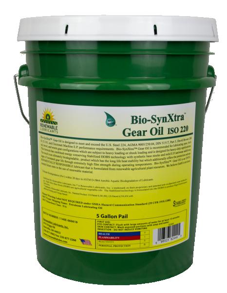 82444 Bio Syn Xtra Gear Oil ISO 220 5 Gal Pail