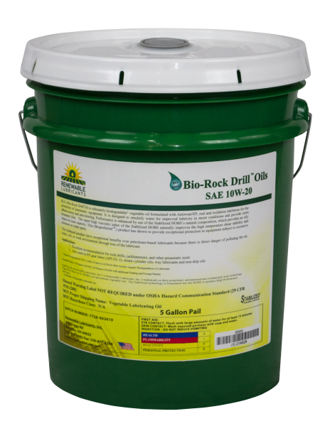 83004 Bio Rock Drill Oil 10 W20 Light 5 Gal Pail