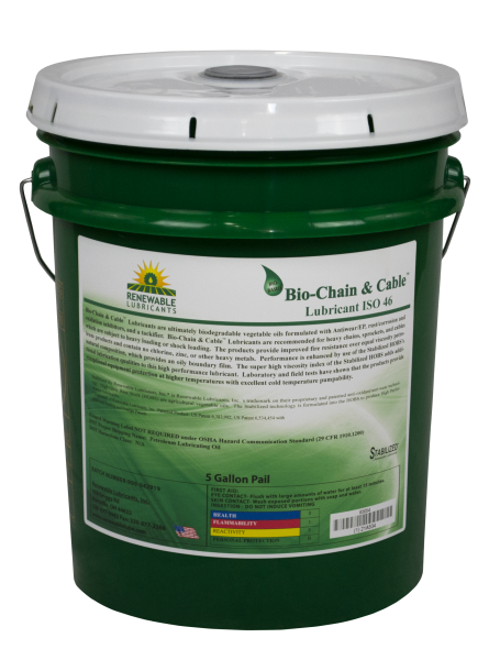 83054 Bio Chain and Cable Lubricant ISO 46 5 Gal Pail