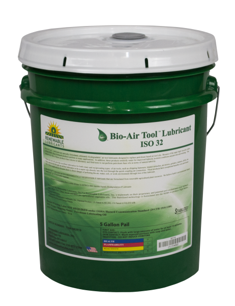 83114 Bio Air Tool Lubricant ISO 32 5 Gal Pail