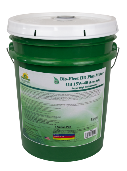 85804 Bio Fleet HD PLUS SAE 15 W40 Low Ash Motor Oil 5 Gal Pail