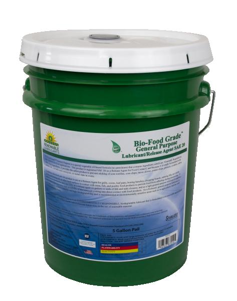 87014 Bio Food Grade GP Lubricant SAE 20 5 Gal Pail