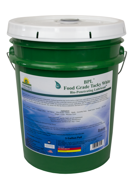 87074 Bio Food Grade Tacky White 5 Gal Pail