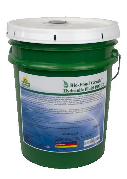 87104 Bio FG Hydraulic Fluid Food Grade ISO 22 5 Gal Pail