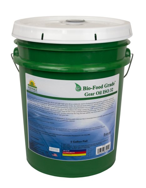 87204 Bio Food Grade Gear Oil ISO 32 5 Gal Pail